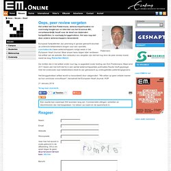 EM: Oeps, peer review vergeten