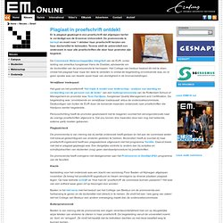 EM: Plagiaat in proefschrift ontdekt