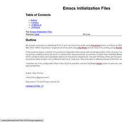 Emacs Initialization Files