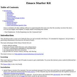 Emacs Starter Kit