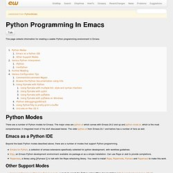 Python Programming In Emacs