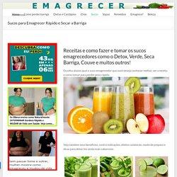 Sucos para Emagrecer, Perder Barriga e Peso Rápido com Saúde!