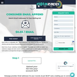 Email Append and Reverse Email Append Services
