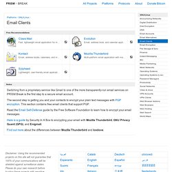 Email Clients - GNU/Linux
