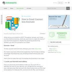 How to Email Content Into Evernote