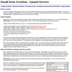 Email form creation - Cpanel servers