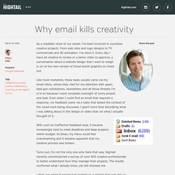 Why email kills creativity