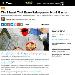 The 1 Email That Every Salesperson Must Master
