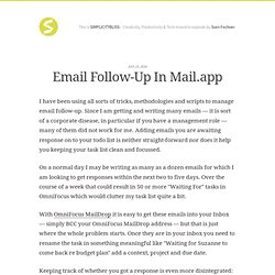 Email Follow-Up in Mail.app