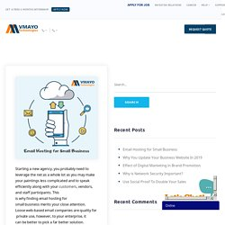 Email Hosting for Small Business