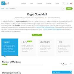 Email Hosting, Zimbra Hosted Email - Krypt.com