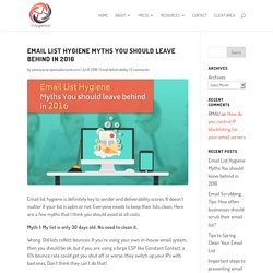Email List Hygiene Myths You should leave behind in 2016