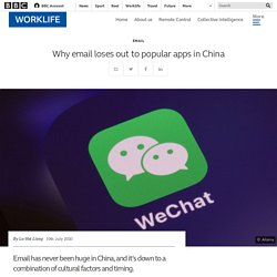 Why email loses out to popular apps in China - BBC Worklife