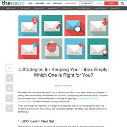 Keep your inbox empty with one of these four strategies