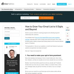 How to Grow Your Email Marketing List to 5 Digits and Beyond