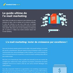 Email marketing: le guide ultime