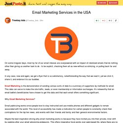 Email Marketing Services in the USA