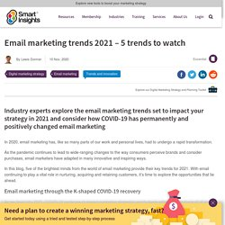 Email marketing trends 2021 - 5 trends to watch