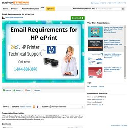 Email Requirements for HP Eprint