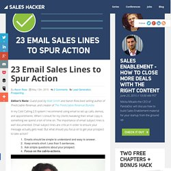 23 Email Sales Lines to Spur Action
