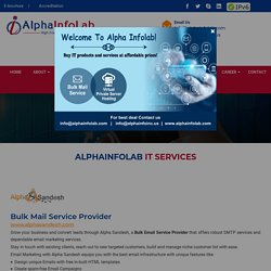 Grow your business with best Bulk Mail, Virtual Private Server Hosting and Digital Marketing Service Provider