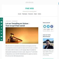 Loi sur l'emailing en Suisse : Tout ce qu'il faut savoir