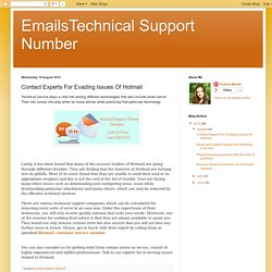 EmailsTechnical Support Number: Contact Experts For Evading Issues Of Hotmail
