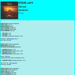 EMANEM 5022: STEVE LACY