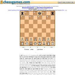 Pawn structure mastery: Lasker vs Capablanca 1921