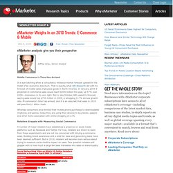 Weighs In on 2010 Trends: E-Commerce & Mobile