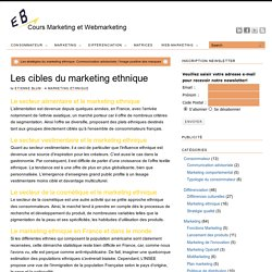 Les cibles du marketing ethnique - Cours marketing, eMarketing et Webmarketing