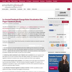 Le Journal Facebook Change Notre Visualisation Des Pages Facebook [Etude]