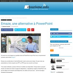 Emaze, une alternative à PowerPoint