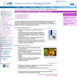 LNE, marché : emballage et conditionnement, secteurs hygiène, beauté, santé