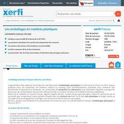 Etude de marché emballage matiere plastique Xerfi