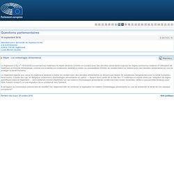 PARLEMENT EUROPEEN - Réponse à question E-007333-16 Les emballages alimentaires
