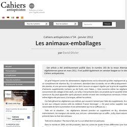Les animaux-emballages - Les Cahiers antispécistes