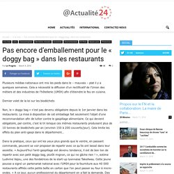 Pas encore d'emballement pour le « doggy bag » dans les restaurants