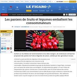 Les paniers de fruits et légumes emballent les consommateurs