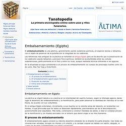 Embalsamamiento (Egipto) - Tanatopedia