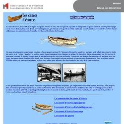 Embarcations autochtones - Canots d'ecorce