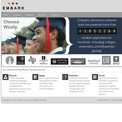 Parsons Graduate Programs 2012 Home - Embark Apply Online
