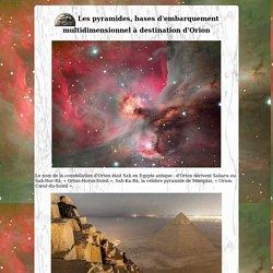 Orion destination bases d'embarquement multidimensionnel