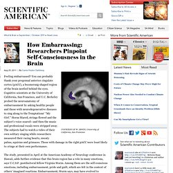 How Embarrassing: Researchers Pinpoint Self-Consciousness in the Brain