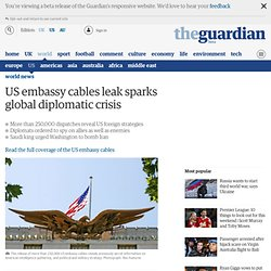 US embassy cables leak sparks global diplomacy crisis