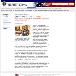 News from the Embassy | Embassy of the United States Tripoli, Libya