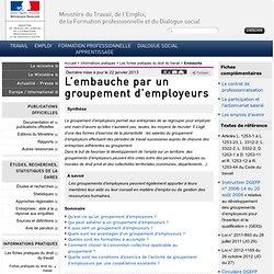 L'embauche par un groupement d'employeurs