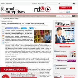 Rennes. Klaxoon embauche son 101e salarié et inaugure son campus - Bretagne - Le Journal des entreprises