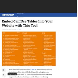 Embed CanIUse Tables Into Your Website with This Tool