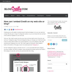 How can I embed Credit on my web site or blog?